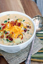 Loaded Potato Soup Royalty Free Stock Photo