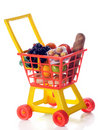Loaded Shopping Cart Royalty Free Stock Photo