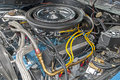 Loaded v engine compartment customized Royalty Free Stock Photo