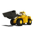 Loader excavator construction isolated one machinery equipment Stock Image