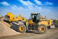 Loader excavator construction machinery equipment Stock Image