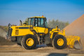 Loader excavator construction machinery equipment Royalty Free Stock Photos