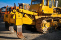 Loader excavator construction machinery equipment Stock Photos