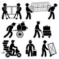 Loader people icons Royalty Free Stock Photo