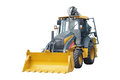 Loader under the white background Stock Photography