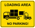 Loading area - no parking Royalty Free Stock Images