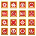 Loading bars and preloaders icons set red Royalty Free Stock Photo