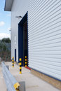 Loading bay entrance safety barriers around a in a warehouse or industrial unit Royalty Free Stock Photos