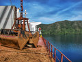 Loading Bulk Carrier Royalty Free Stock Image