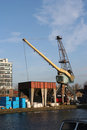 Loading Crane Royalty Free Stock Photo
