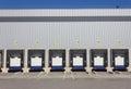 Loading dock doors Royalty Free Stock Photo