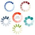 Loading process circular icon set. Royalty Free Stock Photo