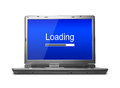 Loading progress bar laptop with isolated on white background Royalty Free Stock Images