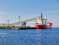 Loading a Ship, Degerhamn, Sweden Royalty Free Stock Images