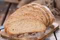 Loaf of bread fresh baked as detailed close up shot Royalty Free Stock Image