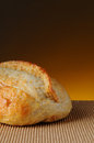 Loaf of Bread With Warm Background Stock Image