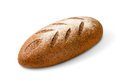 Loaf of rye bread on white background object with clipping paths Royalty Free Stock Images