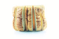 Loaf on white background isolated Royalty Free Stock Photos