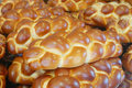 Loafs of challah bread Royalty Free Stock Photo