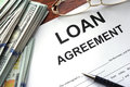 Loan agreement on a table. Royalty Free Stock Photo