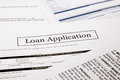 Loan application form business and finance concepts Royalty Free Stock Photo