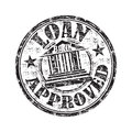 Loan approved rubber stamp black grunge with the text written inside the Royalty Free Stock Images
