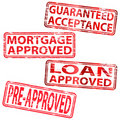Loan approved rubber stamps Royalty Free Stock Image