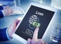 Loan Banking Capital Debt Economy Money Borrow Concept Royalty Free Stock Photo