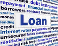 Loan creative banking concept Stock Images