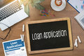 Loan Financial Application Form Filling the form of business cre Royalty Free Stock Photo