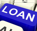 Loan key means lending or loaning meaning providing advance Royalty Free Stock Photo