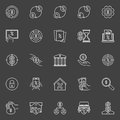 Loan and leasing icons