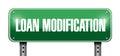 Loan Modification Street Sign Illustration Design