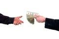 Loaning cash money Royalty Free Stock Photo