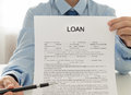 Loans employees credit show loan documents that customers must sign Royalty Free Stock Photography