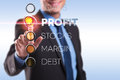 Loans, profit, stocks, margin, debt Royalty Free Stock Photo