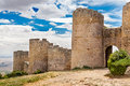 Loarre castle in huesca aragon spain Royalty Free Stock Images