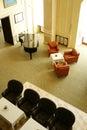 Lobby bar in luxury hotel. Royalty Free Stock Photo