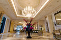 Lobby of luxury hotel Royalty Free Stock Photo