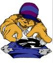Lobo DJ de Hip Hop Fotografía de archivo