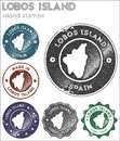 Lobos Island stamps collection.