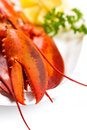 Lobster boiled on dish macro Royalty Free Stock Image