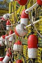 Lobster Buoys Stock Photo
