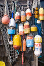 Lobster Buoys Stock Image