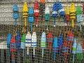 Lobster buoys Royalty Free Stock Photo