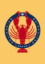 Lobster delicacies logo Royalty Free Stock Photo
