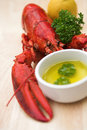 Lobster & lemon - shallow dof Royalty Free Stock Image