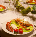 Lobster luxury Royalty Free Stock Photos