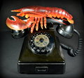 Lobster phone recreation of salvadore dali s famous surrealist sculpture the lobsterphone Stock Photography