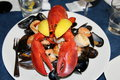 Lobster platter Royalty Free Stock Photo